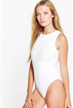 Maya Sleeveless Rib Knit Bodysuit