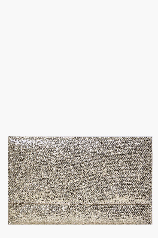 Fold Over Glitter Clutch - gold - Scarlett Fold Ov