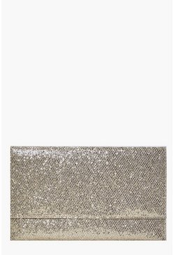 Scarlett Fold Over Glitter Clutch