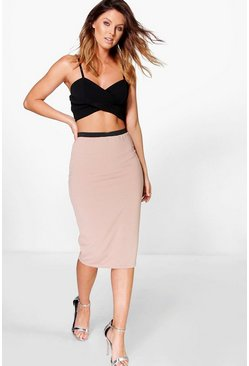 Lelianna Ribbed Midi Skirt