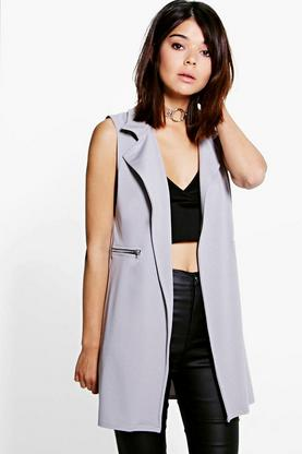 Rebecca Sleeveless Zip Detail Duster