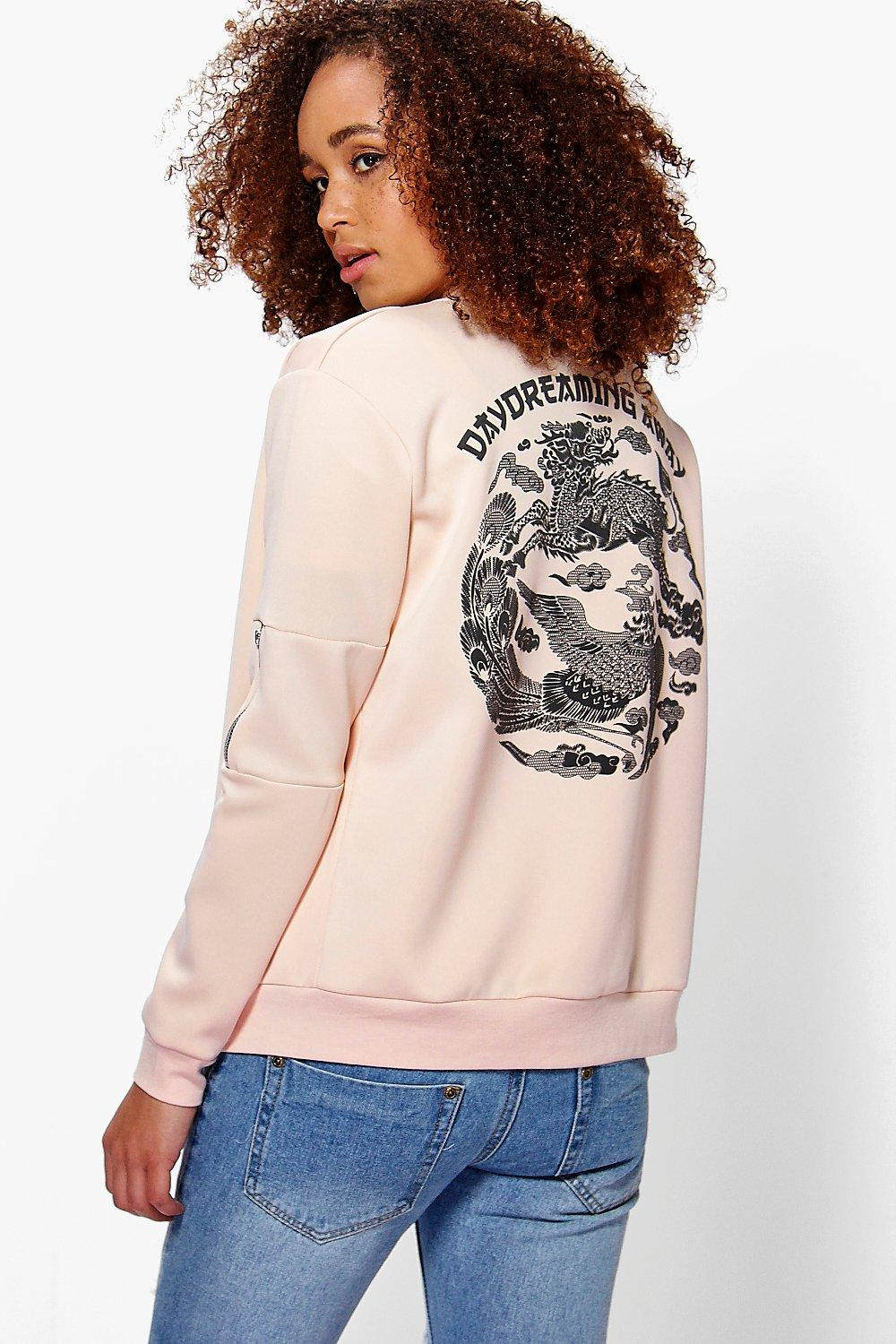 Jasmine Japanese Embroidered Bomber