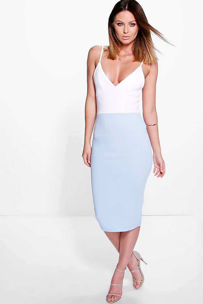Camille Colour Block Midi Dress