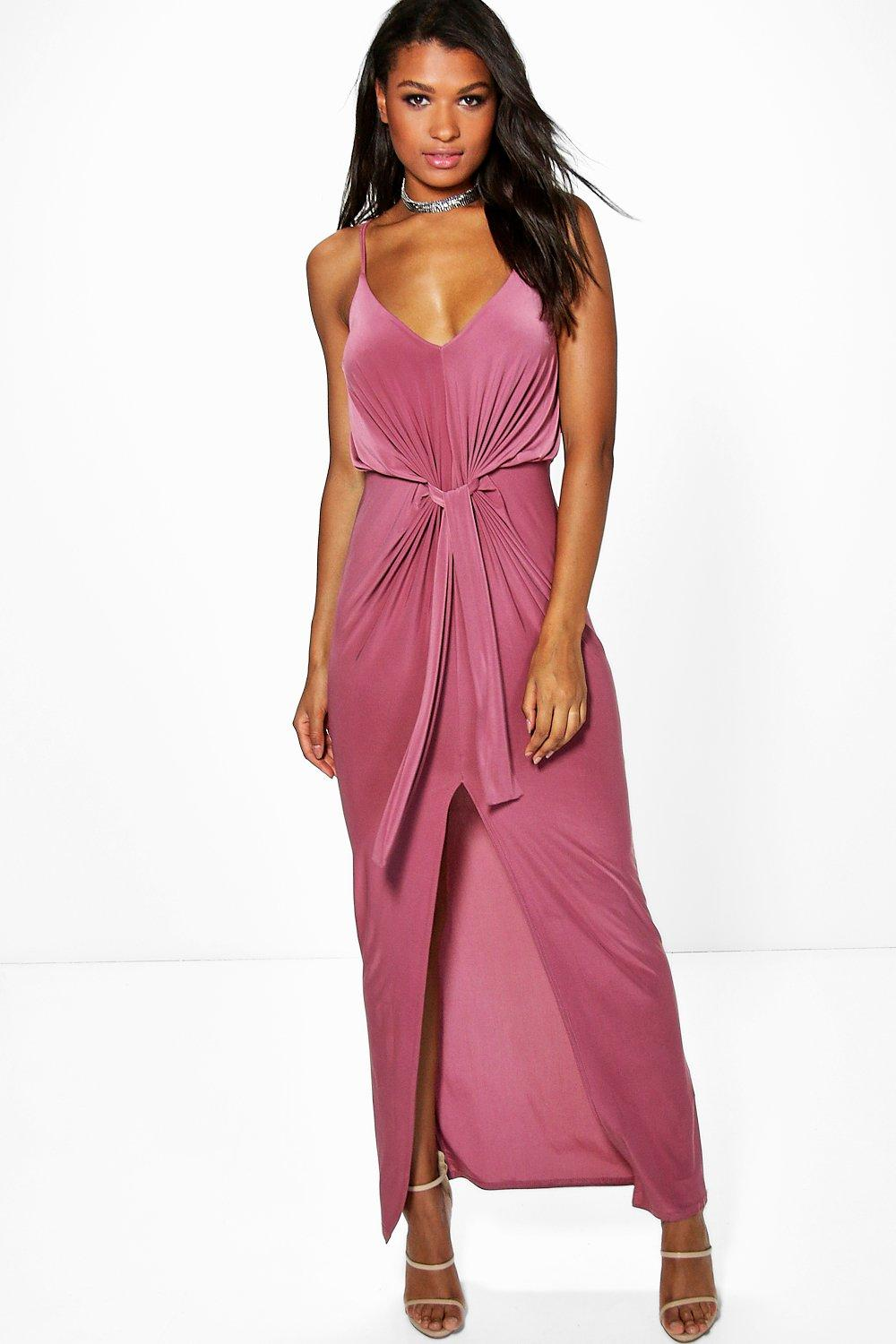Arianne Strappy Knot Detail Maxi Dress
