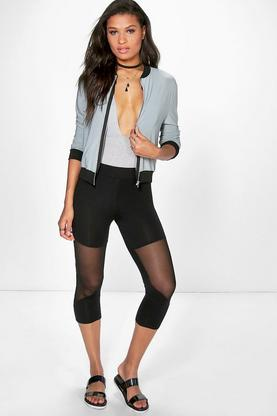 Addiena Mesh Insert Cropped Leggings