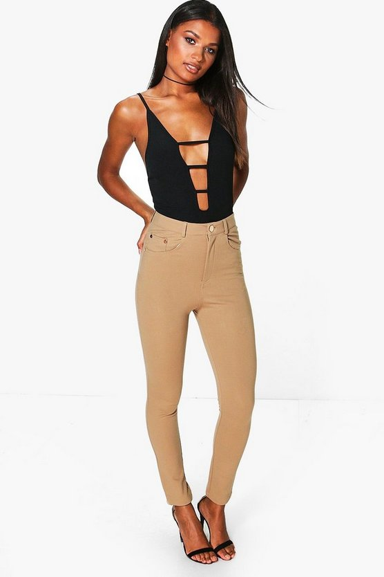 Imani Mid Rise Super Stretch Skinny Trousers