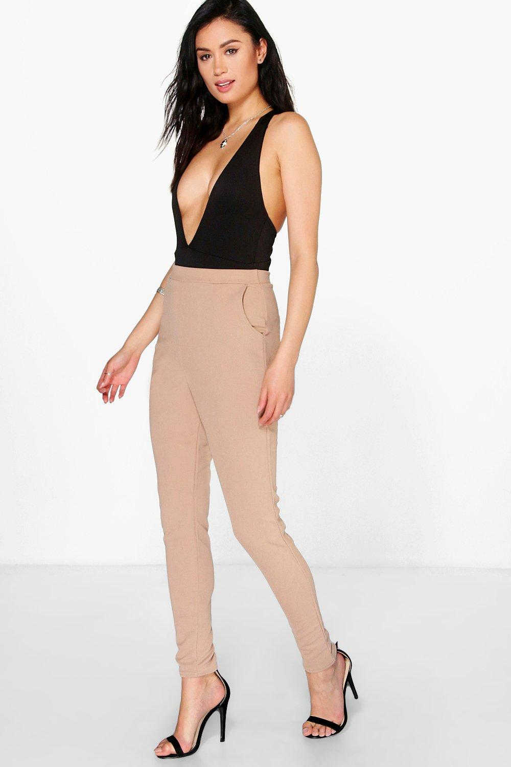 Eva Skinny Crepe 2 Pocket Trousers