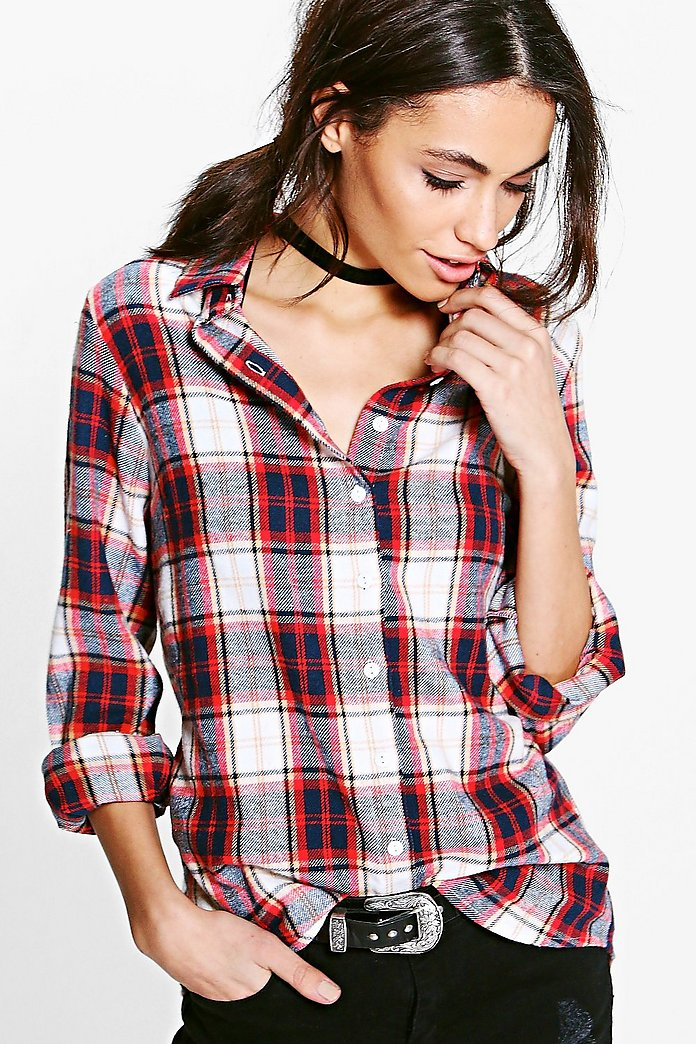 Olivia Oversized Checked Shirt