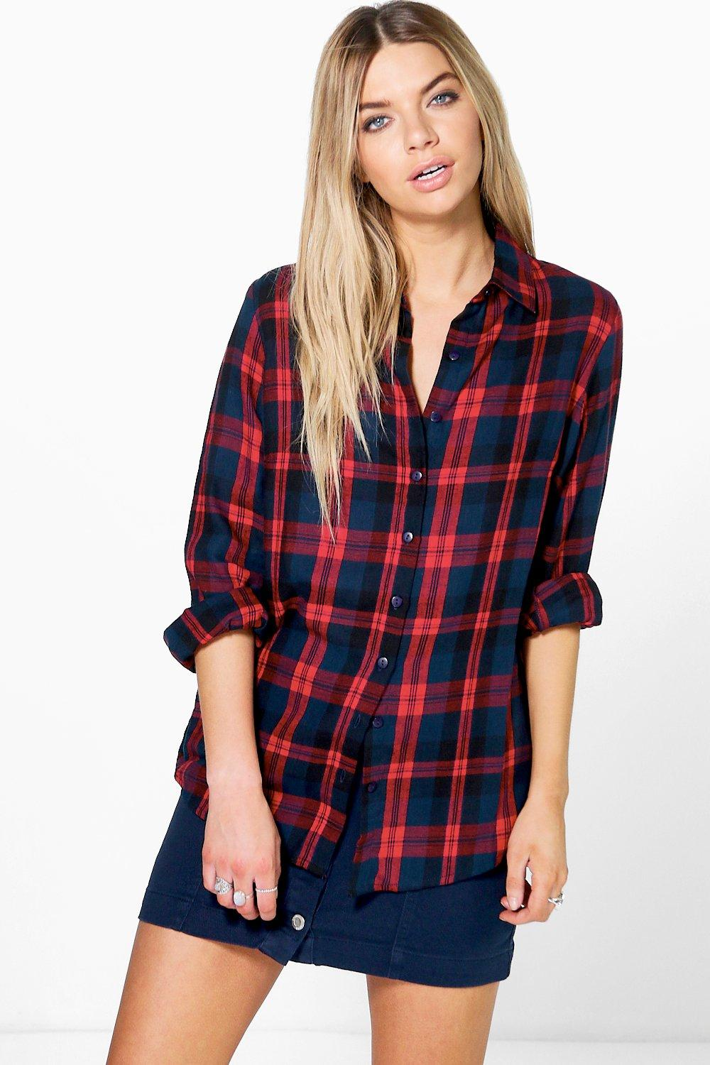 Jasmine Oversized Checked Shirt