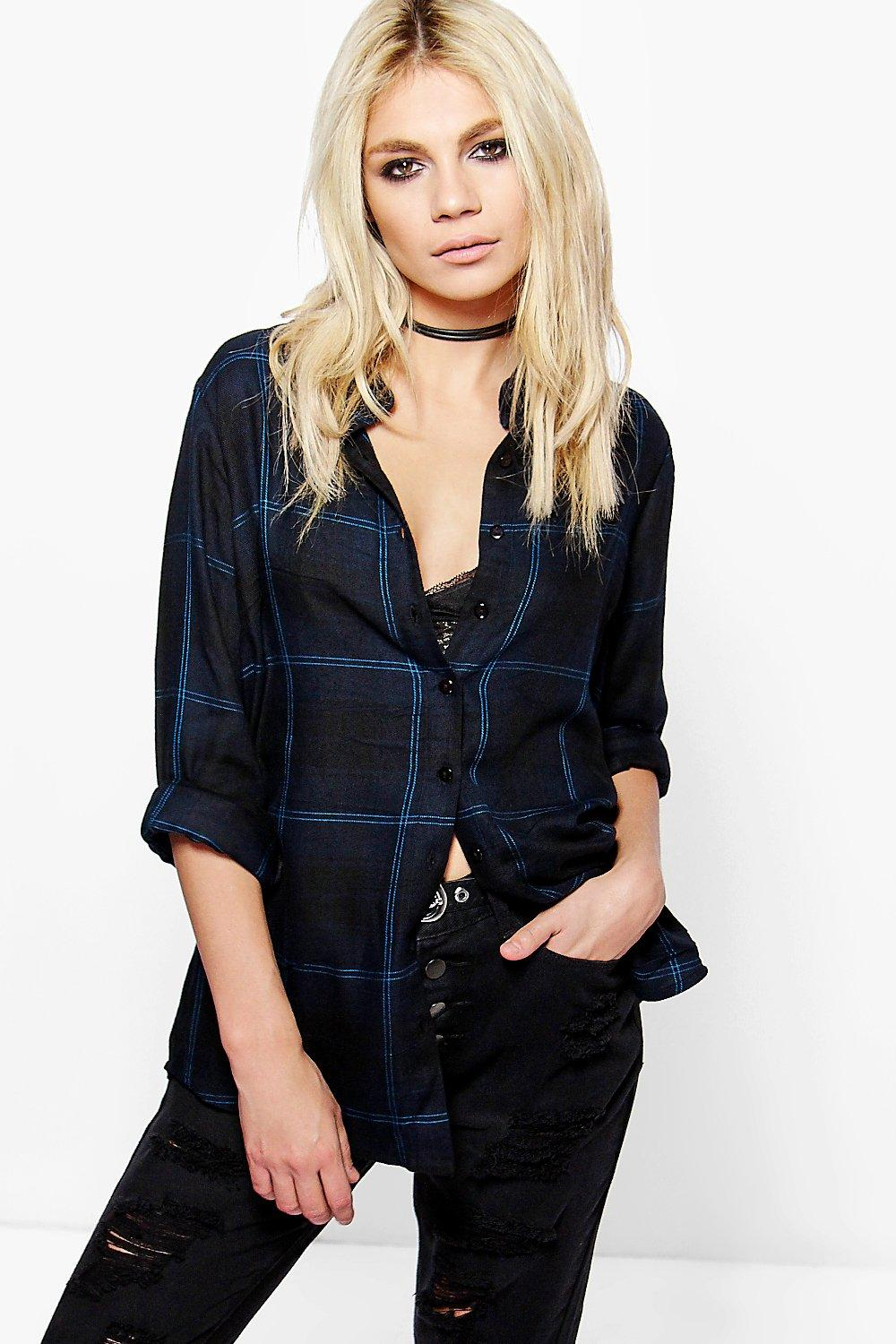Hannah Oversized Checked Shirt