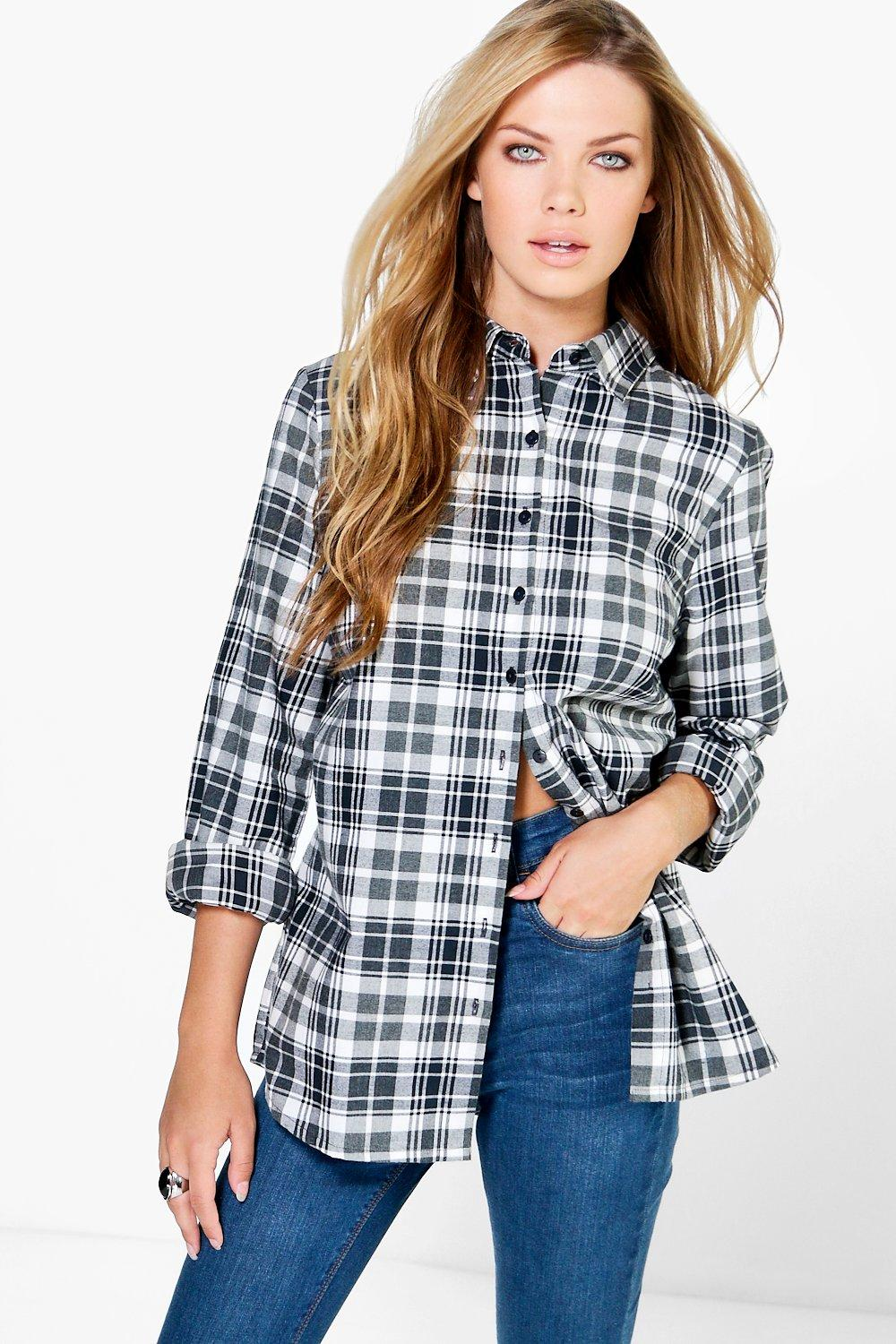 Lacey Oversized Checked Shirt