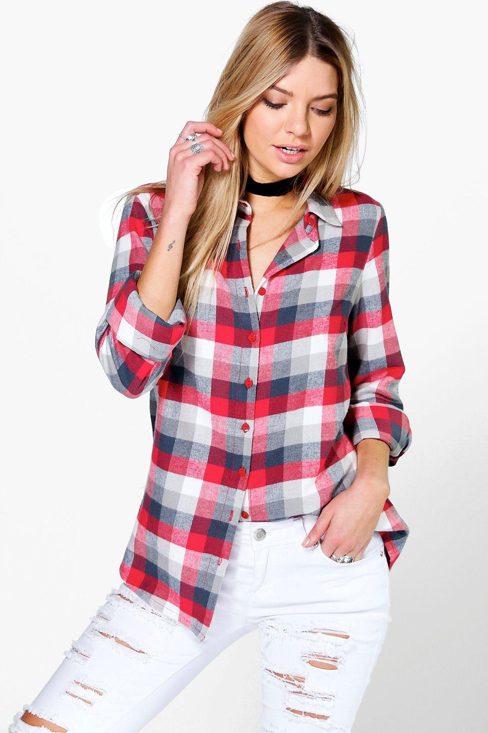 Erin Oversized Checked Shirt