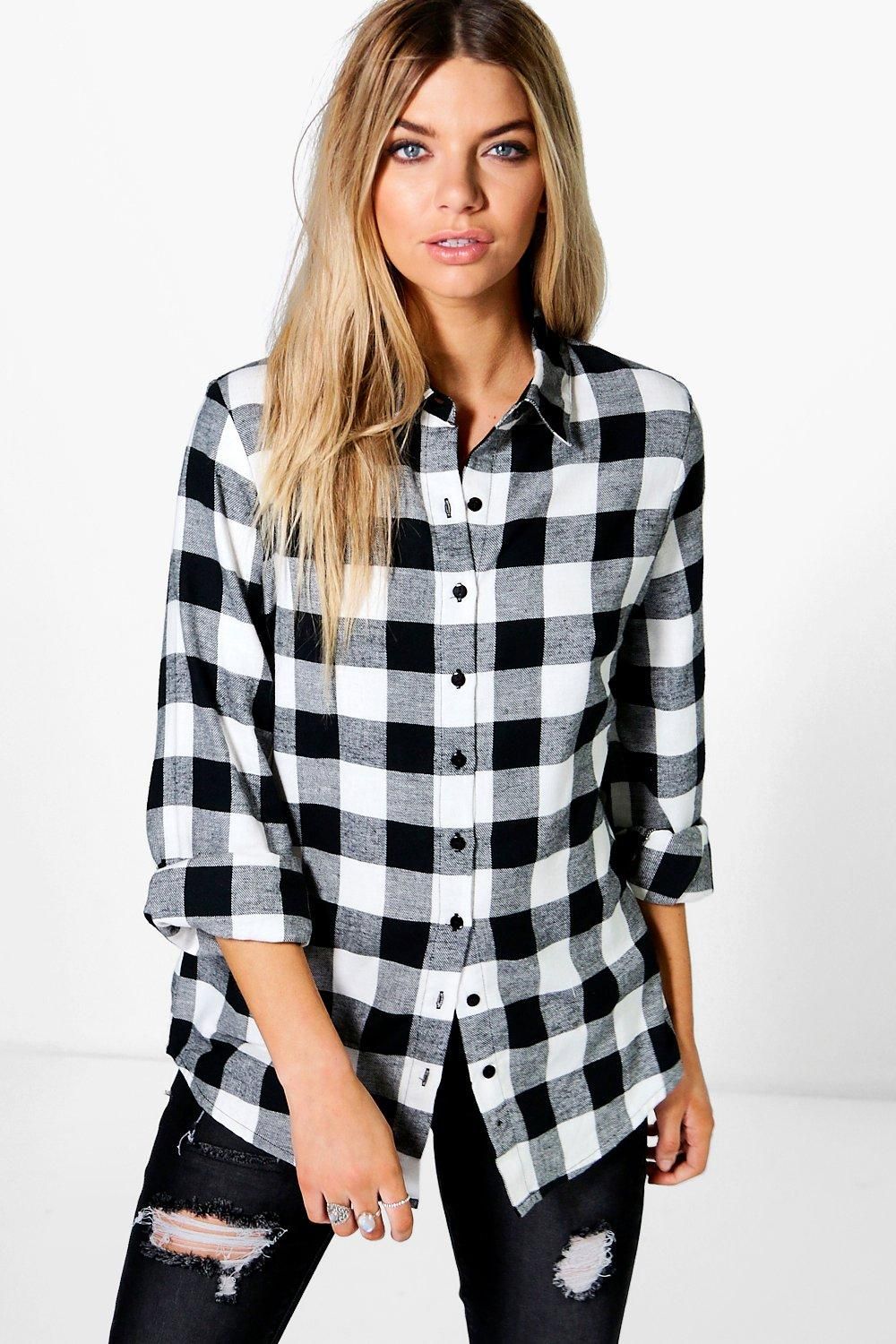 Abigail Oversized Checked Shirt