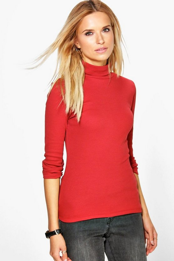 Alice Premium Ribbed Roll Neck