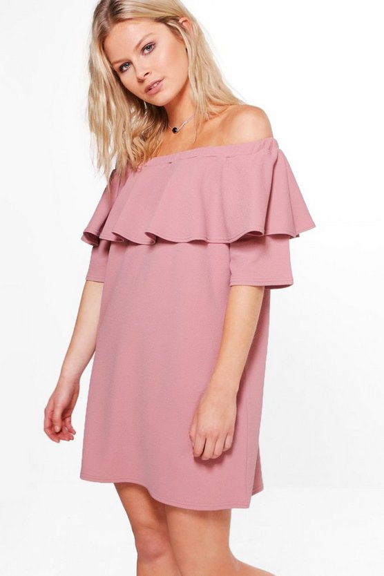 Whitney Off The Shoulder Ruffle Dress