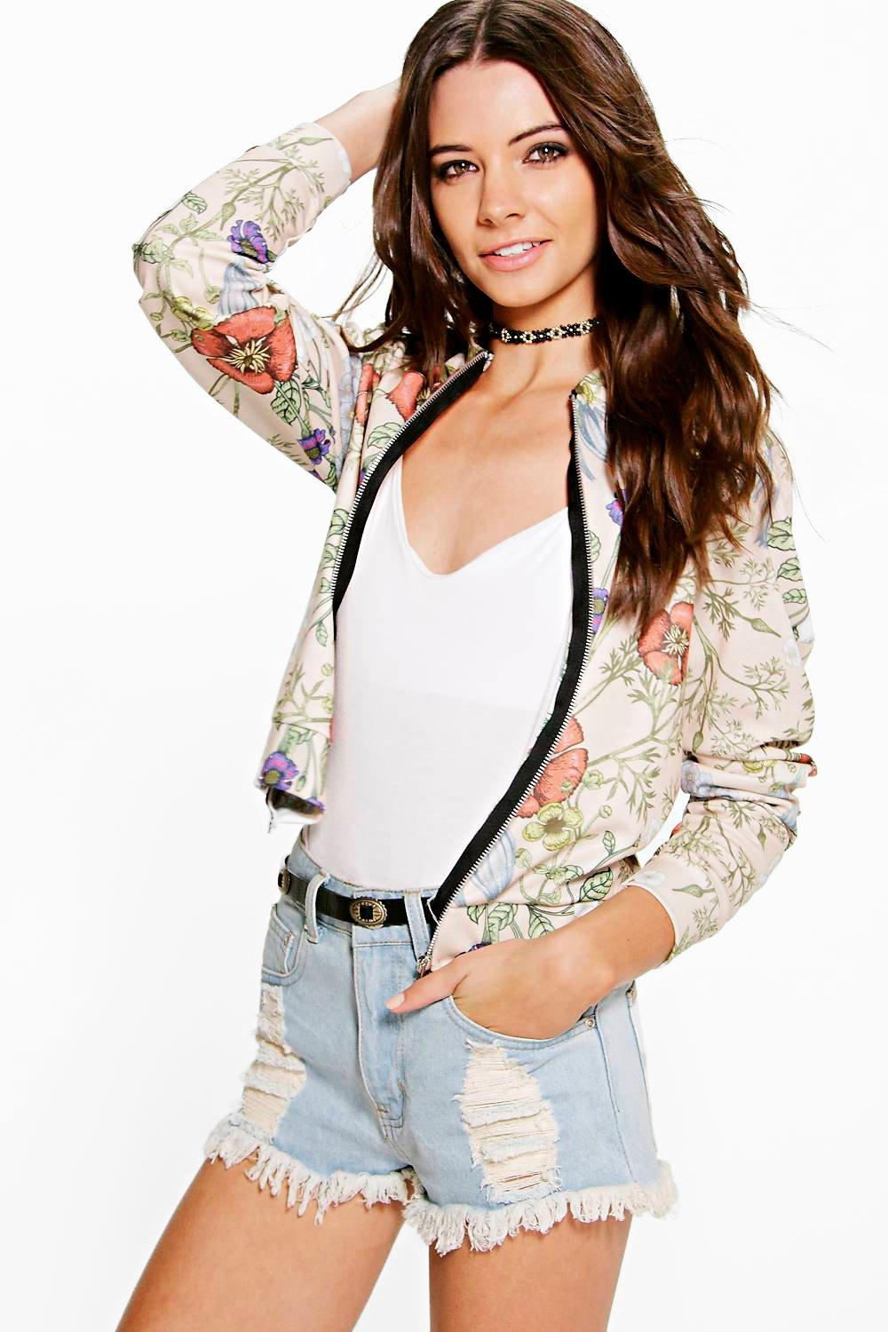 Erin Floral Jersey Bomber