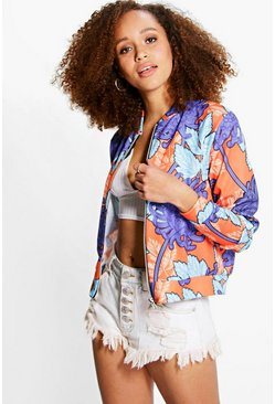 Darcy Bright Floral Print Bomber
