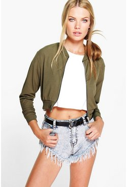 Eve Crop Rib Bomber