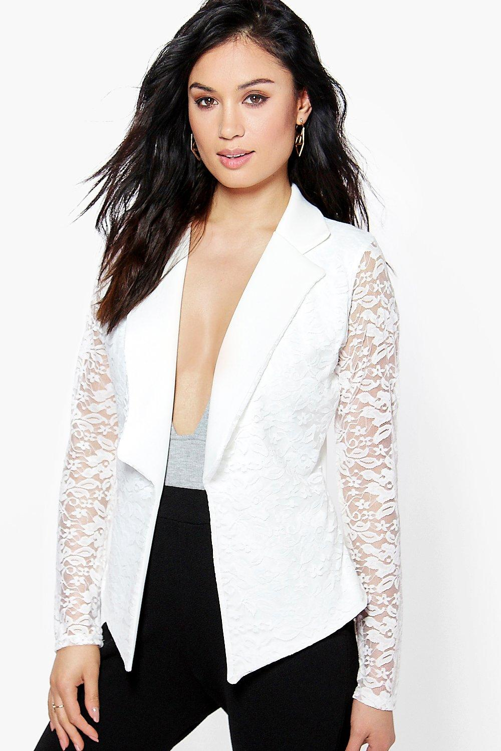 Lace Blazer cream