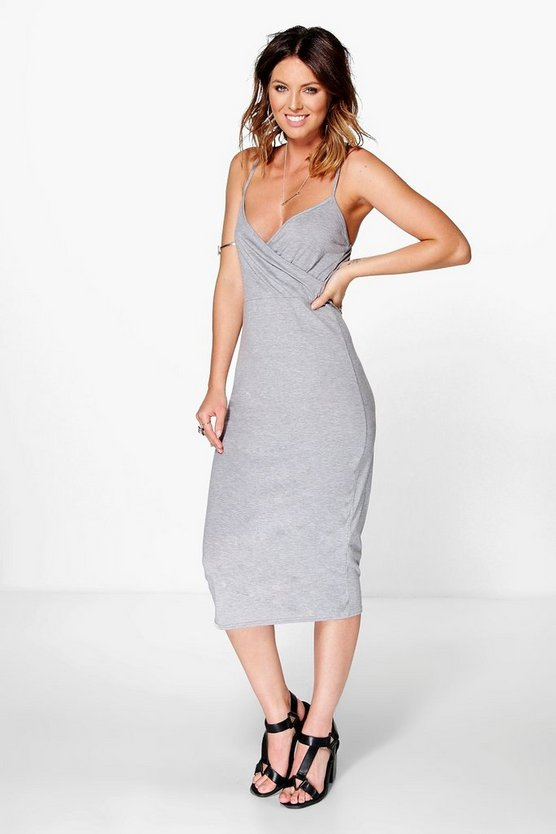 Margot Basic Wrap Midi Dress