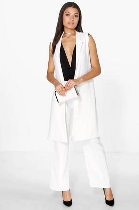 Jessica Sleeveless Tab Duster