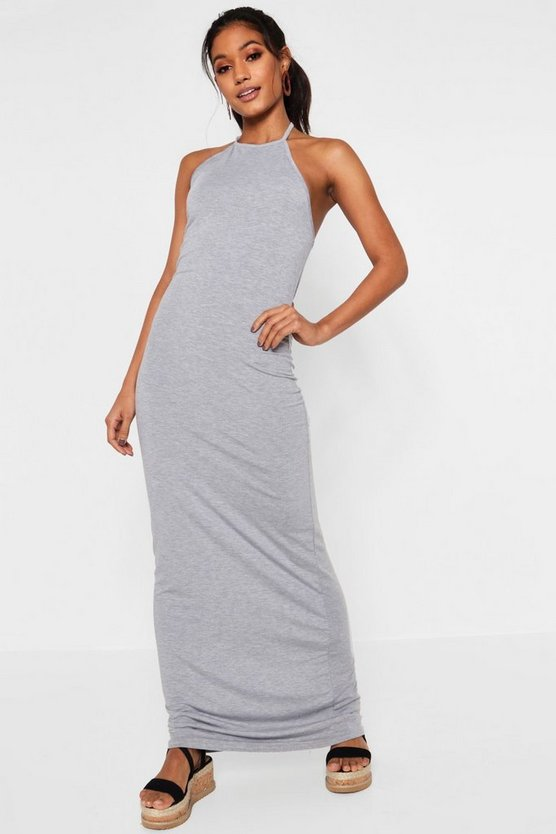 Poppy Basic 90s Neck Maxi Dress