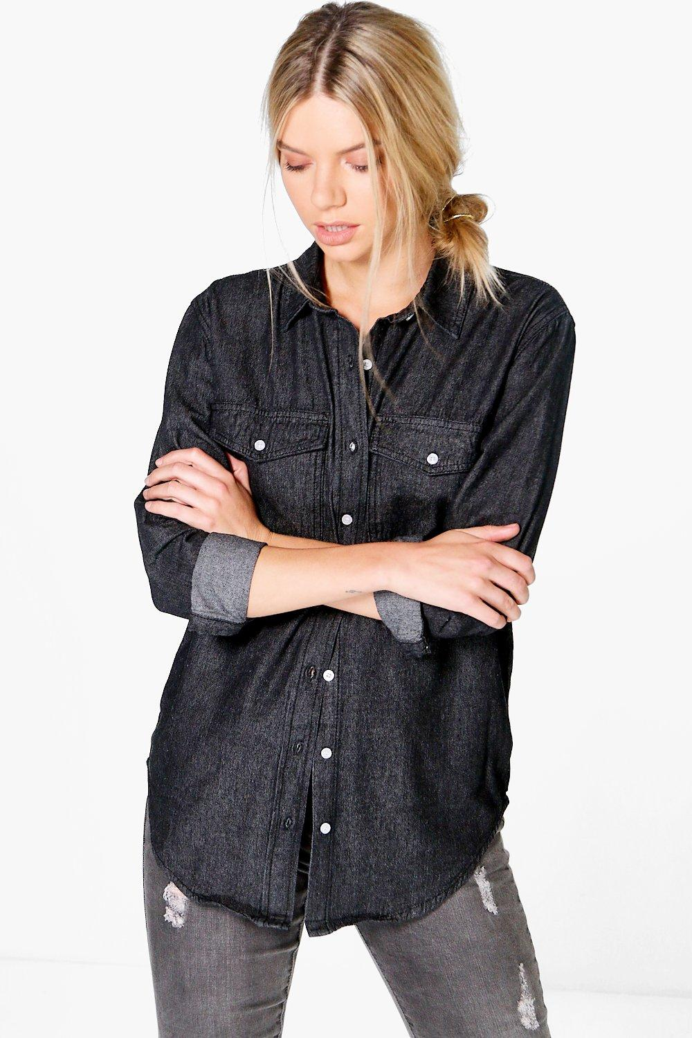 Claudia Oversize Denim Shirt