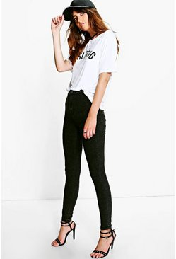 Colette Black Acid Wash Tube Jeans