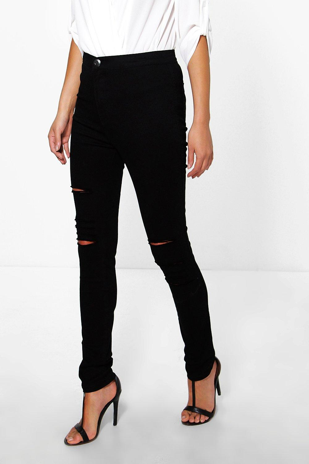 Esme High Rise Ultra Rips Tube Jeans