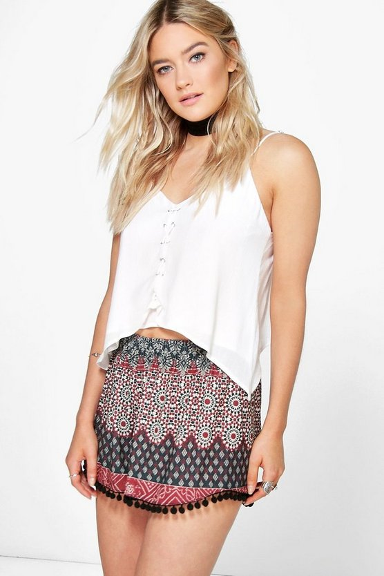 Erin Pom Pom Trim Runner Shorts