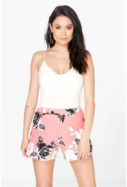 Mary Floral Tailored Shorts
