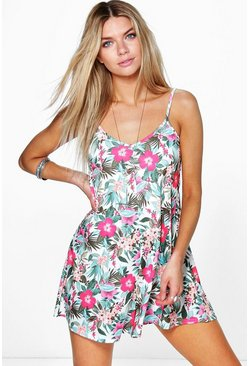 Sarah Strappy Floral Swing Playsuit
