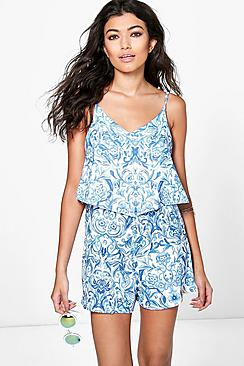 Jinny Cami Overlay Strappy Playsuit