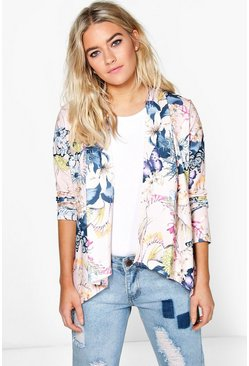 Jennifer Floral Collarless Jacket