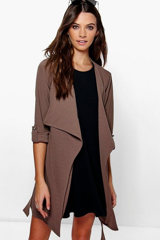 Jade Waterfall Belted Duster