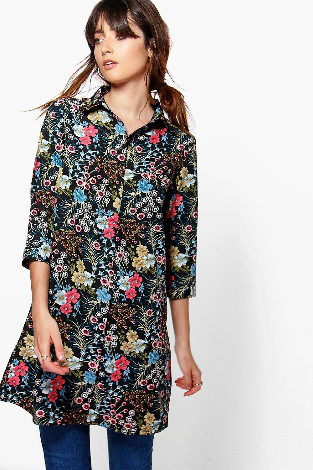 Ruby Cluster Floral Shirt