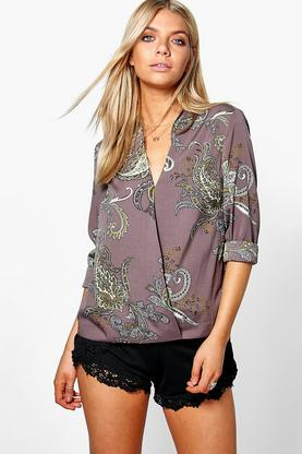 Kellie Paisley Wrap Shirt