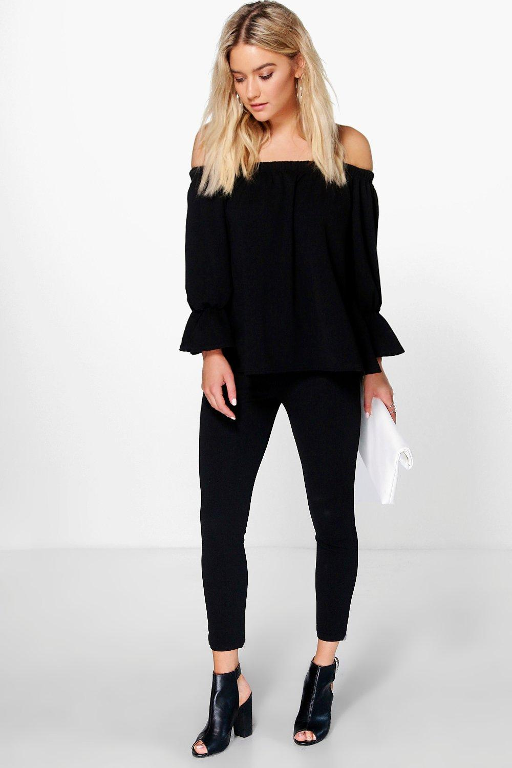 Lia Off Shoulder Top & Skinny Trouser Co-Ord Set