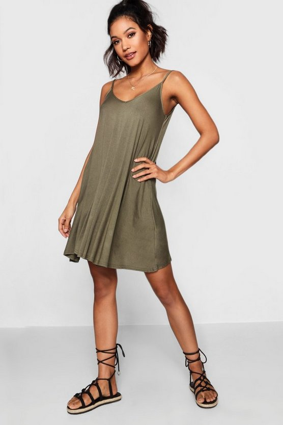 Dahlia Basic V Neck Swing Dress