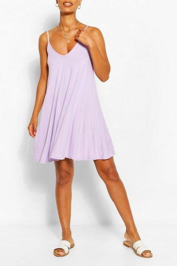 Lilac Basic Swing Dress