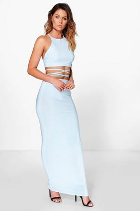 Elin Cross Over Tie Cami & Skirt Co-Ord Set