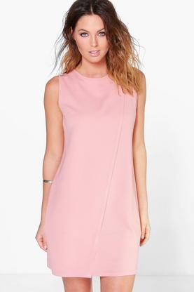 Joanna Sleeveless Wrap Over Shift Dress