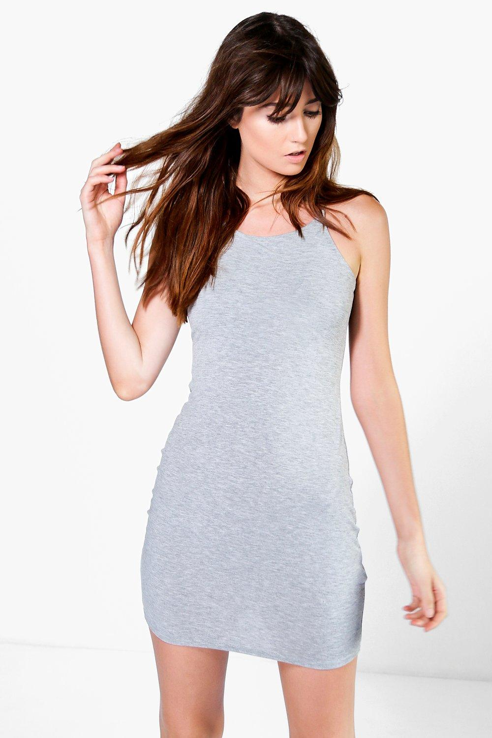 Sarah Basic Spaghetti Strap Bodycon Dress