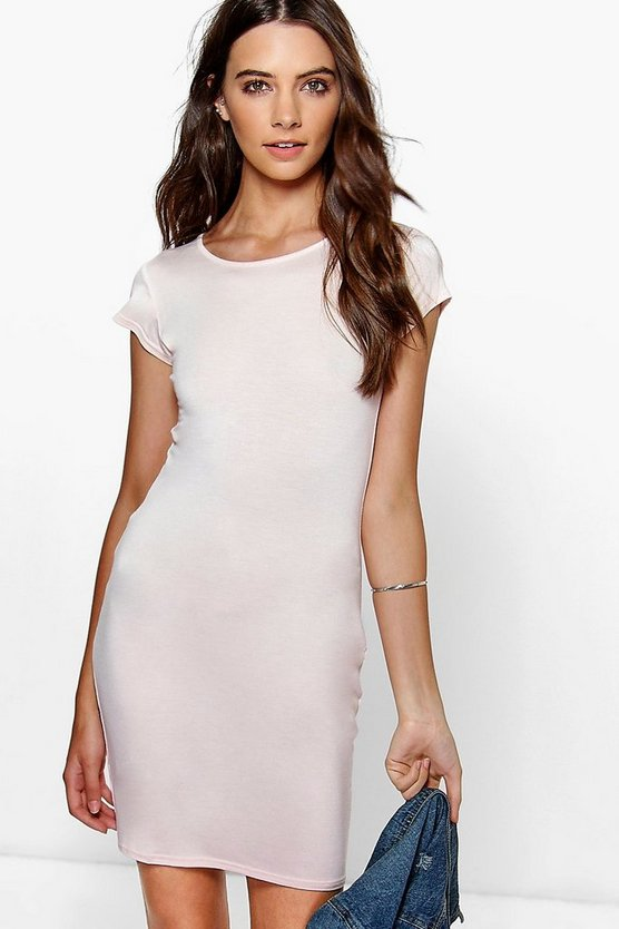 Mai Basic Scoop Neck Bodycon Dress