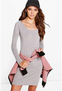 Lucie Basic Scoop Neck Bodycon Dress