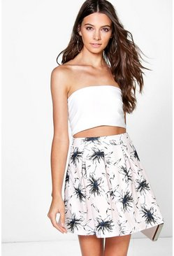 Innes Pastel Floral Box Pleat Skater Skirt