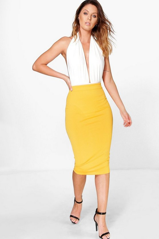 Esme Ribbed Midi Skirt