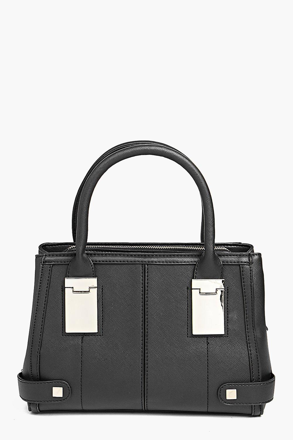 Metal Detail Day Bag black