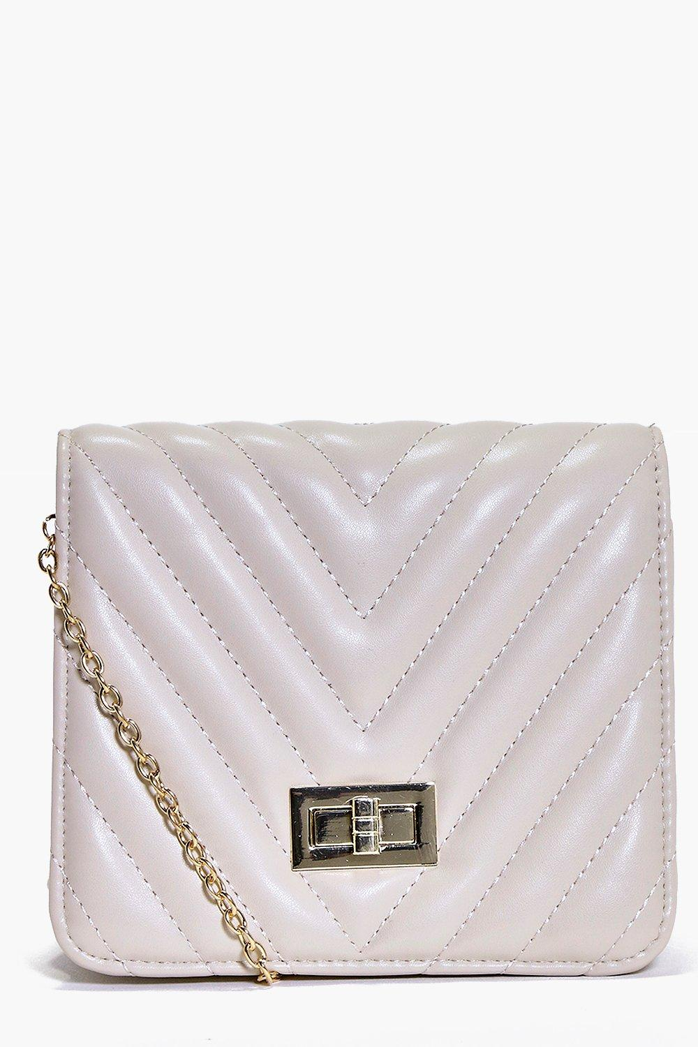 Zoe Quilted Chain Strap Cross Body Bag