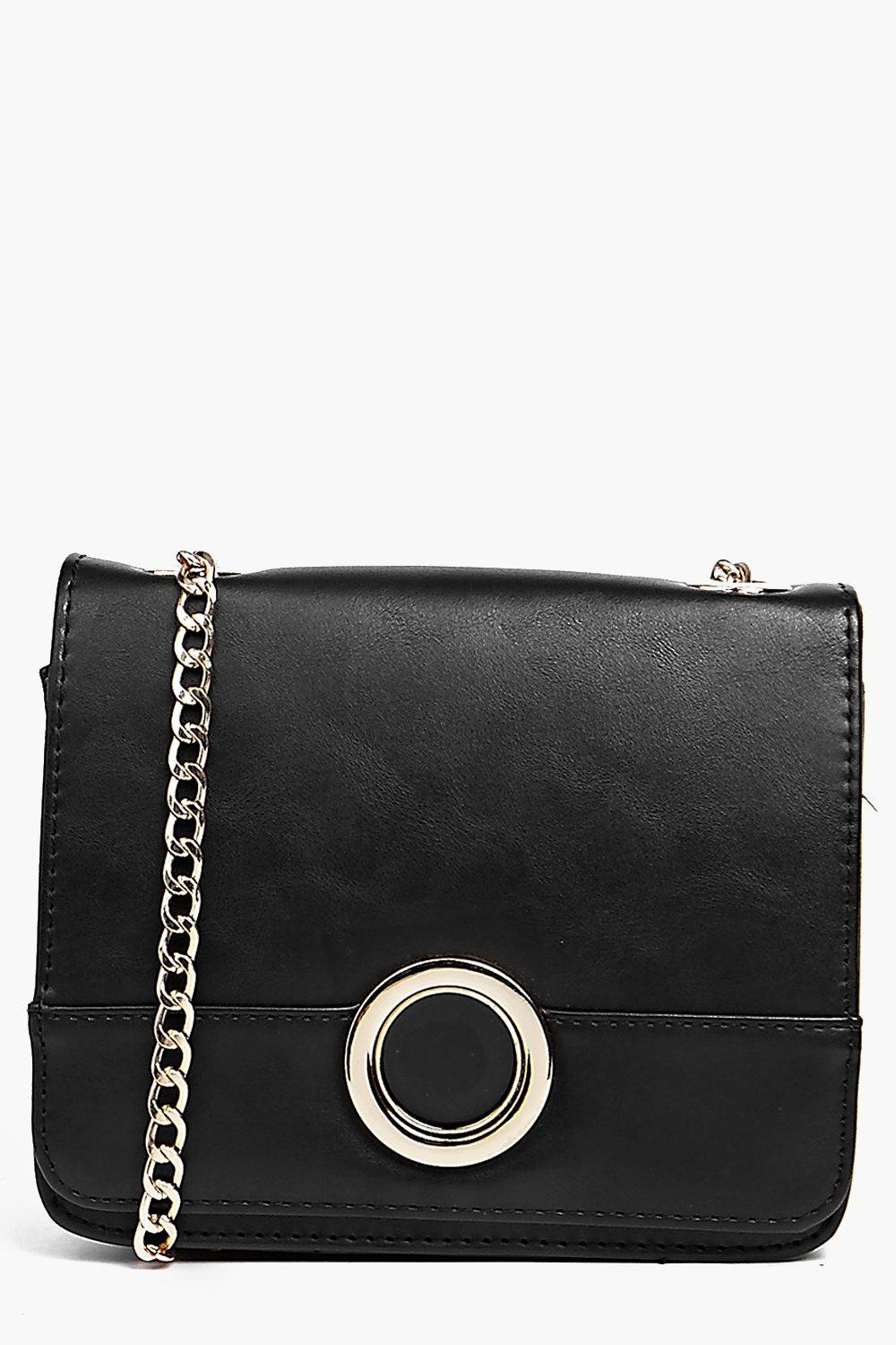 Ella Metal Circle Clasp Cross Body Bag